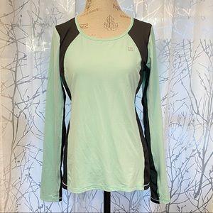 Victorias Secret green long sleeve athletic top